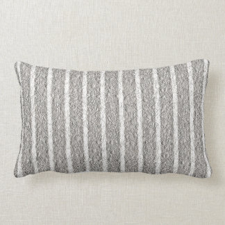 """Cozy_Cushions_Silver_Floral, White Lumbar Pillow"