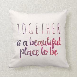 Cozy Diamond Pattern Throw Pillow
