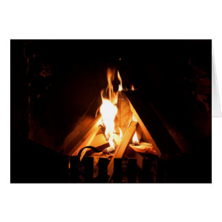 Cozy fire card