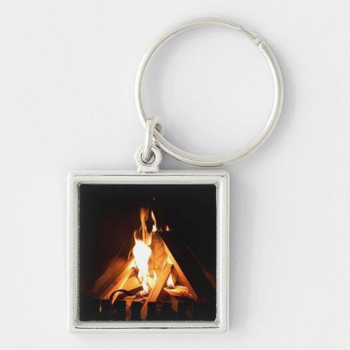 Cozy fire key chain