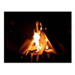 Cozy fire postcards