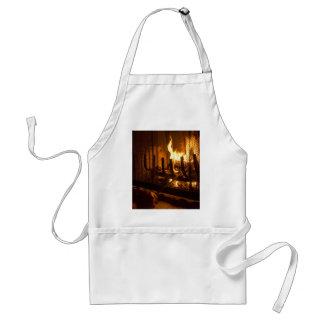 Cozy Fireplace Adult Apron