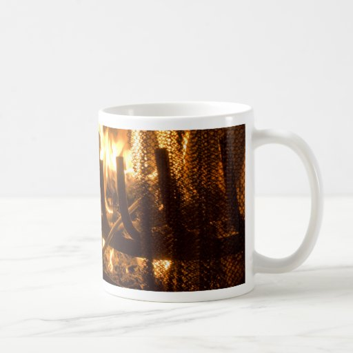 Cozy Fireplace Classic White Coffee Mug