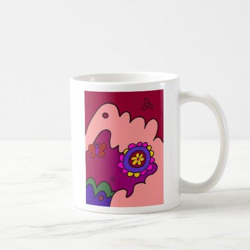 Cozy Flower Classic White Coffee Mug
