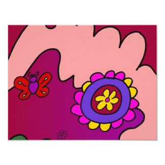 Cozy Flower 4.25x5.5 Paper Invitation Card