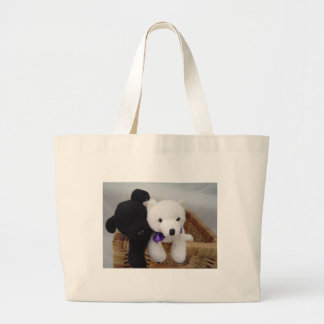 Cozy Furry Friends Large Tote Bag