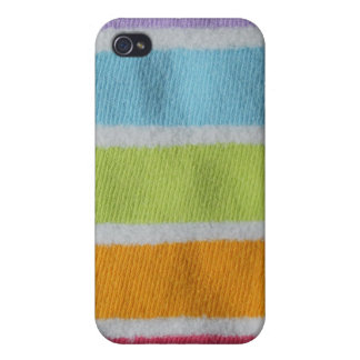 Cozy Fuzzy Rainbow Stripes Case For iPhone 4