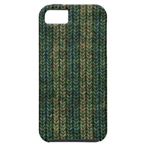 Cozy Green Knit Sweater Look iPhone 5 Case