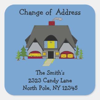 Cozy House Change of Address Square Sticker