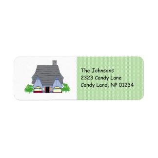 Cozy House Return Address Label