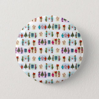 Cozy Kid Unicorns Pattern Pinback Button