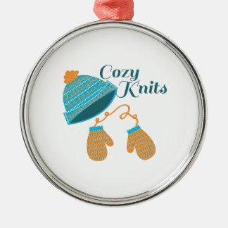 Cozy Knits Round Metal Christmas Ornament