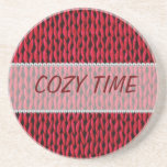 Cozy Knitted Texture Beverage Coasters