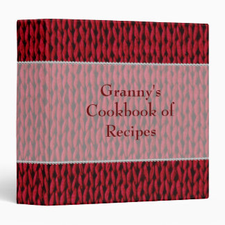 Cozy Knitted Texture - Granny's Recipes Binder