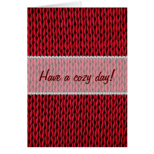 Cozy Knitted Texture Greeting Card