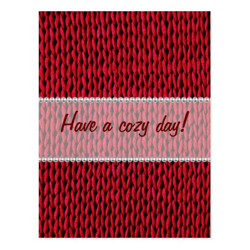 Cozy Knitted Texture Post Card