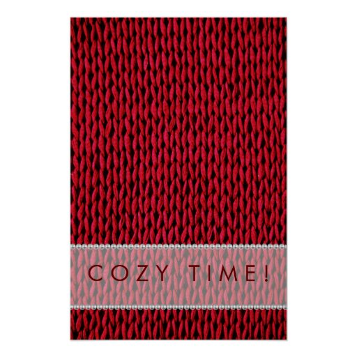 Cozy Knitted Texture Poster