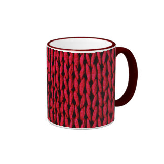 Cozy Knitted Texture Ringer Mug