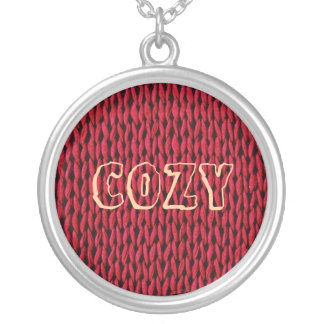 Cozy Knitted Texture Silver Plated Necklace