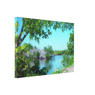 Cozy lake Stretched Canvas Print