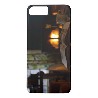 Cozy living room with fireplace and tea iPhone 7 plus case