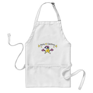 Cozy Merry Christmas Star Apron