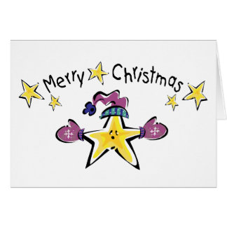 Cozy Merry Christmas Star Cards