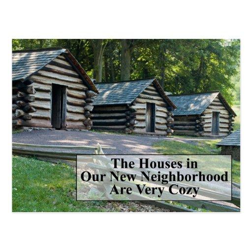 Cozy Neighborhood - Funny Change of Address Postcard