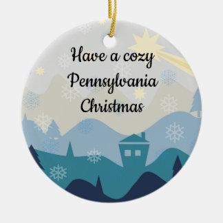 Cozy Pennsylvania Christmas Wishes Ornament