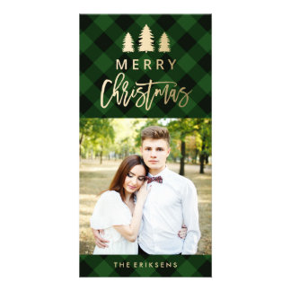 Cozy Plaid | Green Holiday Photo Card