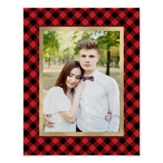 Cozy Plaid | Red and Black Buffalo Plaid Holiday Poster