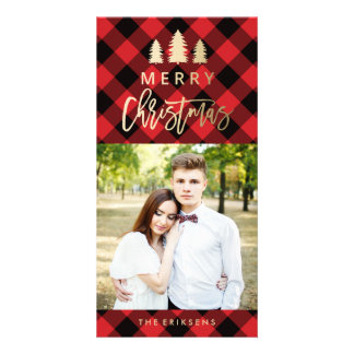 Cozy Plaid | Red Holiday Photo Card