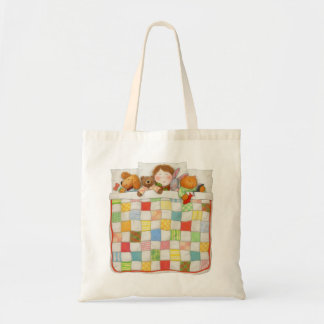 Cozy Quilt Budget Tote Bags