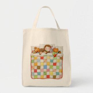 Cozy Quilt Grocery Tote Bags