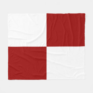 Cozy Red and White Rectangles Fleece Blanket