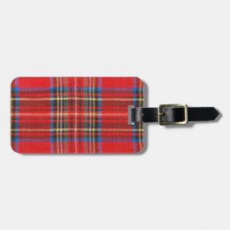 Cozy Red Tartan Plaid Tag For Bags