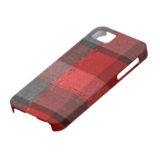 Cozy Red Vintage Winter Plaid iPhone SE/5/5s Case