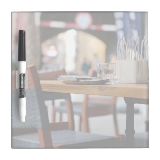 Cozy restaurant interior design dry erase whiteboards