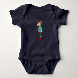 Cozy Scarf Unicorn Baby Bodysuit