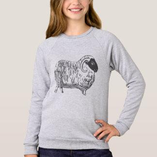 Cozy Sheep Girls' Raglan Sweatshirt