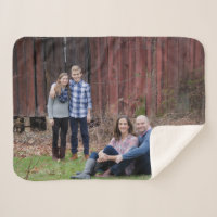 Cozy sherpa personalized photo blanket - keepsake