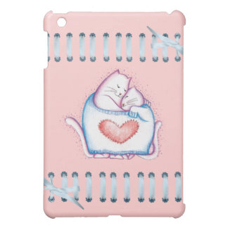 Cozy Snuggled Kittens Pink iPad Case