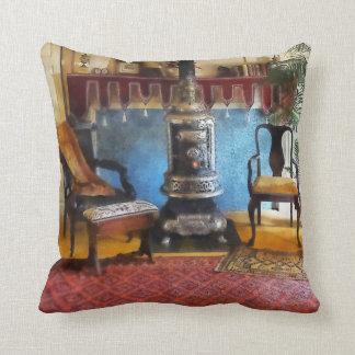 Cozy Victorian Parlor Throw Pillow