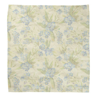 Cozy vintage floral textile Forget Me Not Bandana