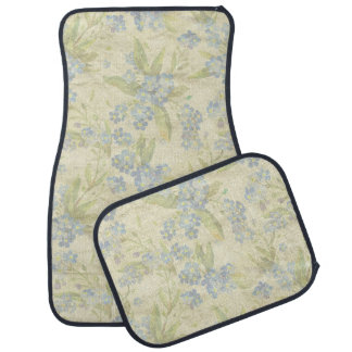 Cozy vintage floral textile Forget Me Not Car Floor Mat