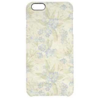 Cozy vintage floral textile Forget Me Not Clear iPhone 6 Plus Case