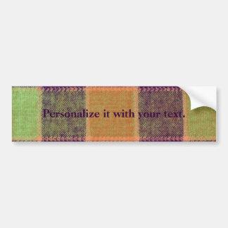 Cozy Warm Plaid Pattern Bumper Sticker