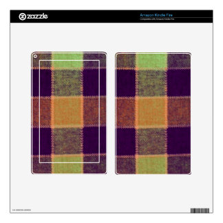 Cozy Warm Plaid Pattern Decals For Kindle Fire