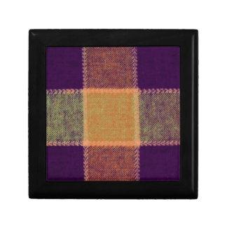 Cozy Warm Plaid Pattern Keepsake Box