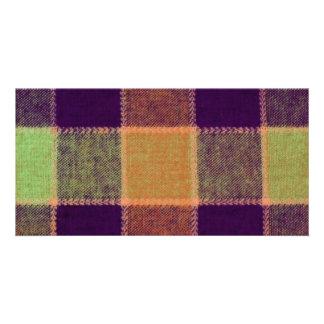 Cozy Warm Plaid Pattern Photo Card